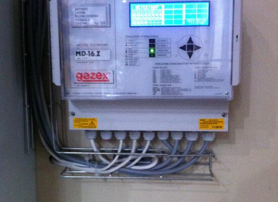 system detekcji gazu-hala produkcyjna