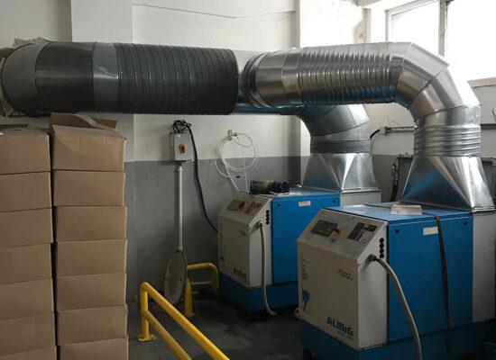 odzysk ciepła ze sprężarek na ogrzanie hali produkcyjnej